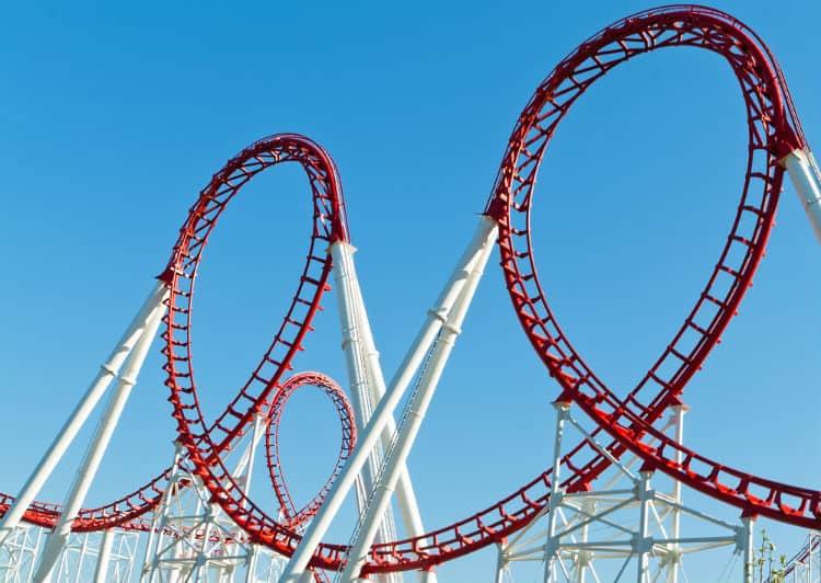 Roller Coaster in Disneyland Paris