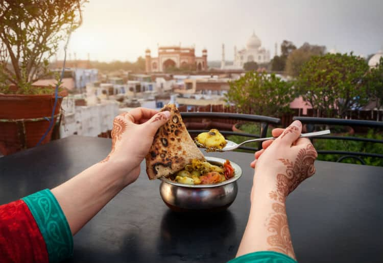 To stay healthy in India eat in popular restaurants
