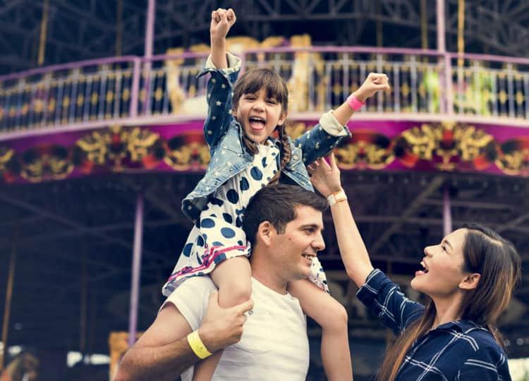 Family in Disneyland California