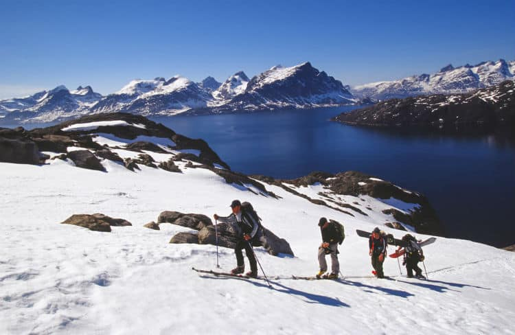 Mountain climbing in Greenland