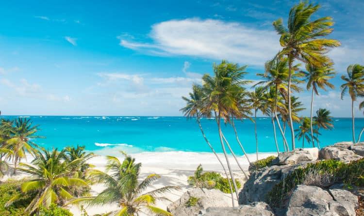 Romantic Barbados beach