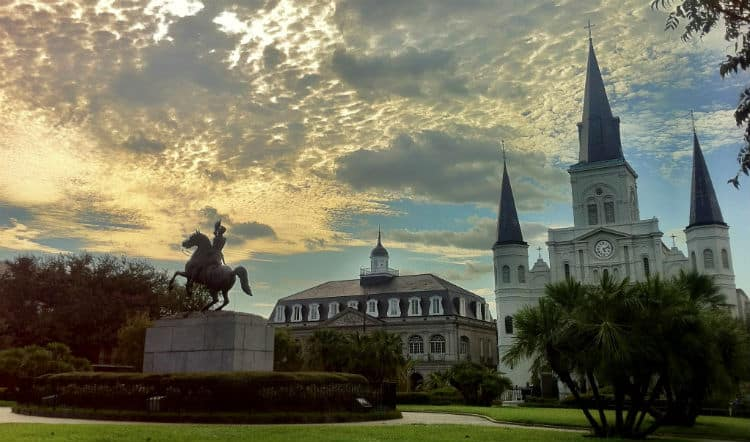 Valentine's Day at Jackson Square New Orleans