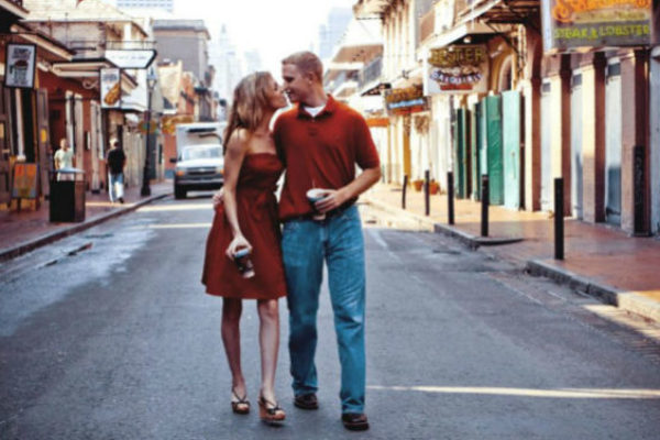 Valentine's day celebration in New Orleans