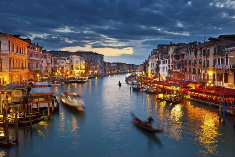 Valentine's day gondola ride in Venice