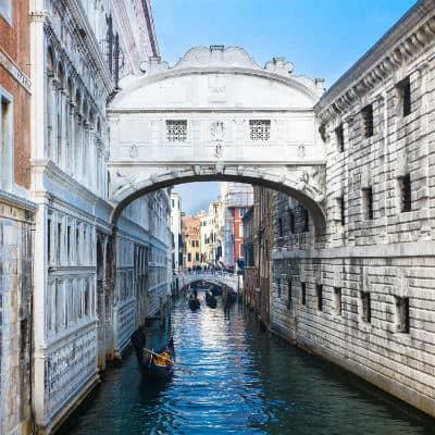 Valentine's day walk on bridge of sighs Venice