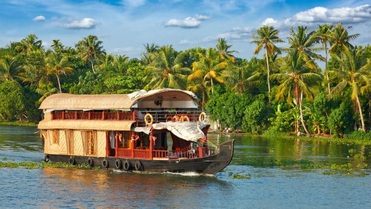 Romantic houseboat in Kerala