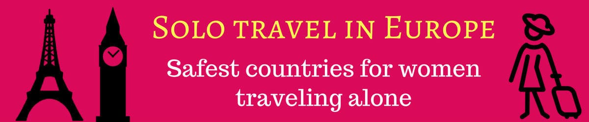 Europe - best places for solo woman traveller