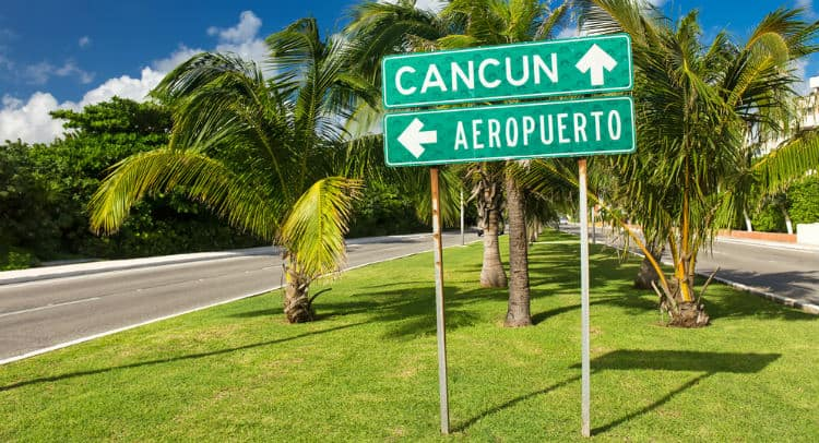 Cancun Airport Sign