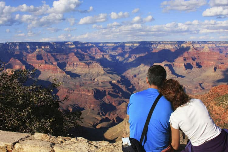 Coach trip to Grand Canyon on Valentine's Day