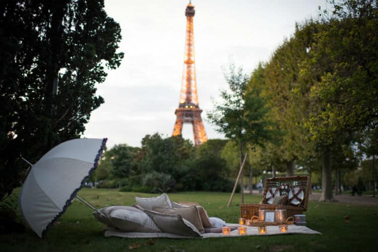 Valentine's Day picnic in Paris