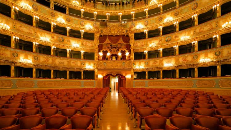 Valentine's day at La Fenice Opera House