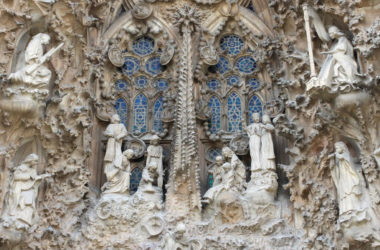 View from Nativity facade tower at Sagrada Familia