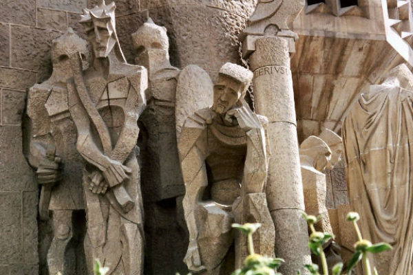 View from Passion facade tower at Sagrada Familia
