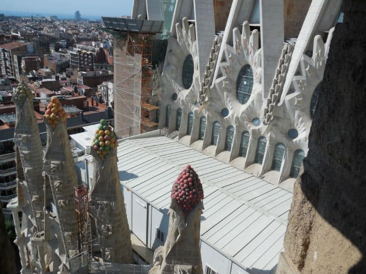 View of Spires of Nativity facade