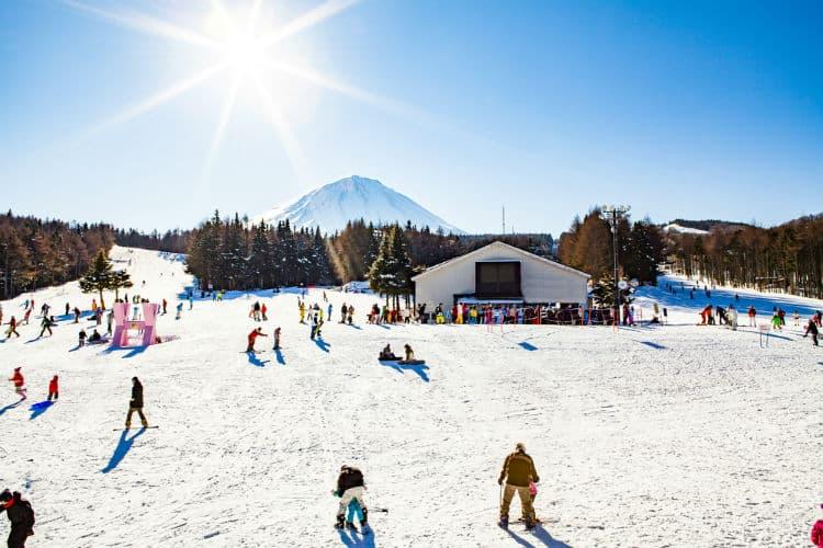 Skiing in Japanese Ski resort