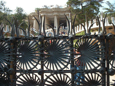 Iron Gates at Park Guell, Barcelona
