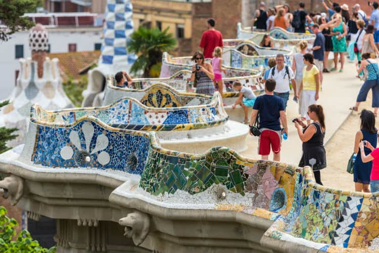 Terrace of Park Guell, Barcelona