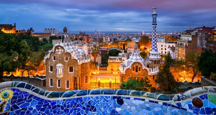 Free Entry Into Park Guell At Night Best Time For Free