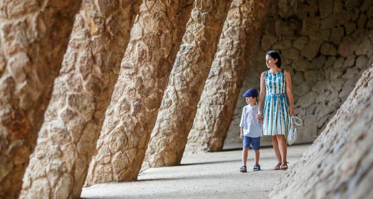 Tourists in Park Guell