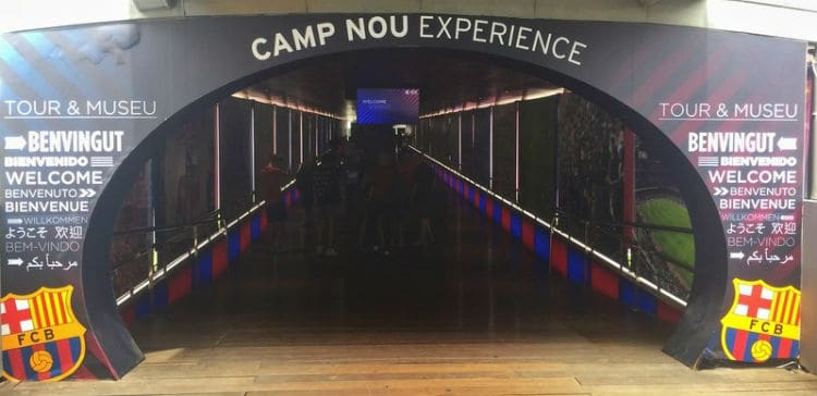 Camp Nou Experience tour, Barcelona