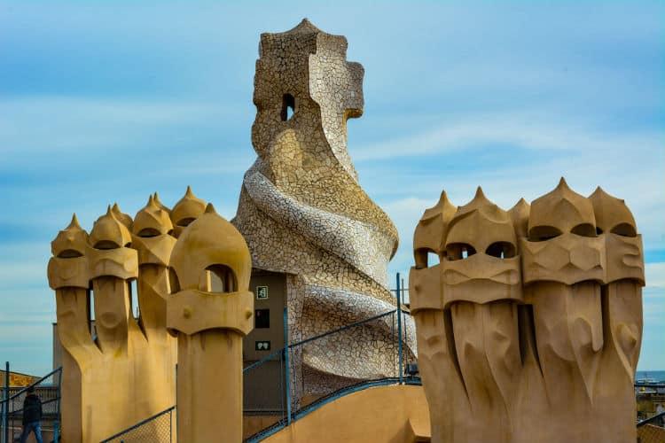 Chimneys on La Pedrera roof