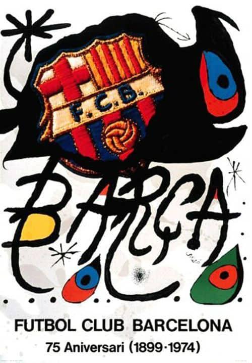 Joan Miro art for Barcelona FC