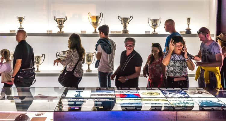 Trophies in Barcelona FC Museum