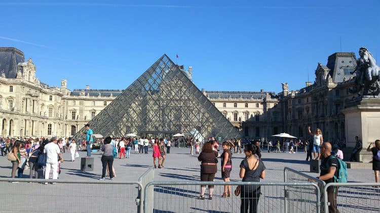 Glass pyramid at louvre