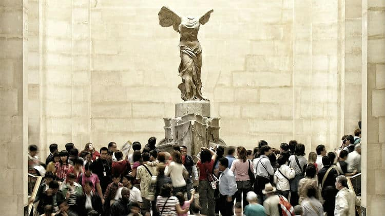 Winged Victory of Samothrace in Louvre
