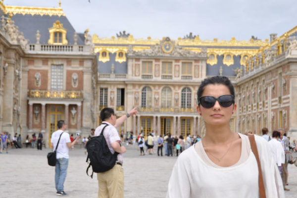 Woman in Palace of Versailles