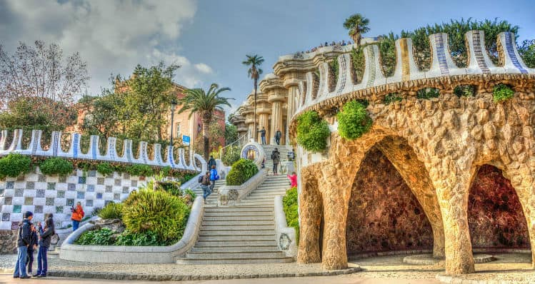 Park Guell in the morning