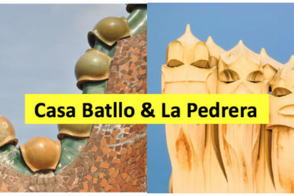 Casa Batllo and La Pedrera